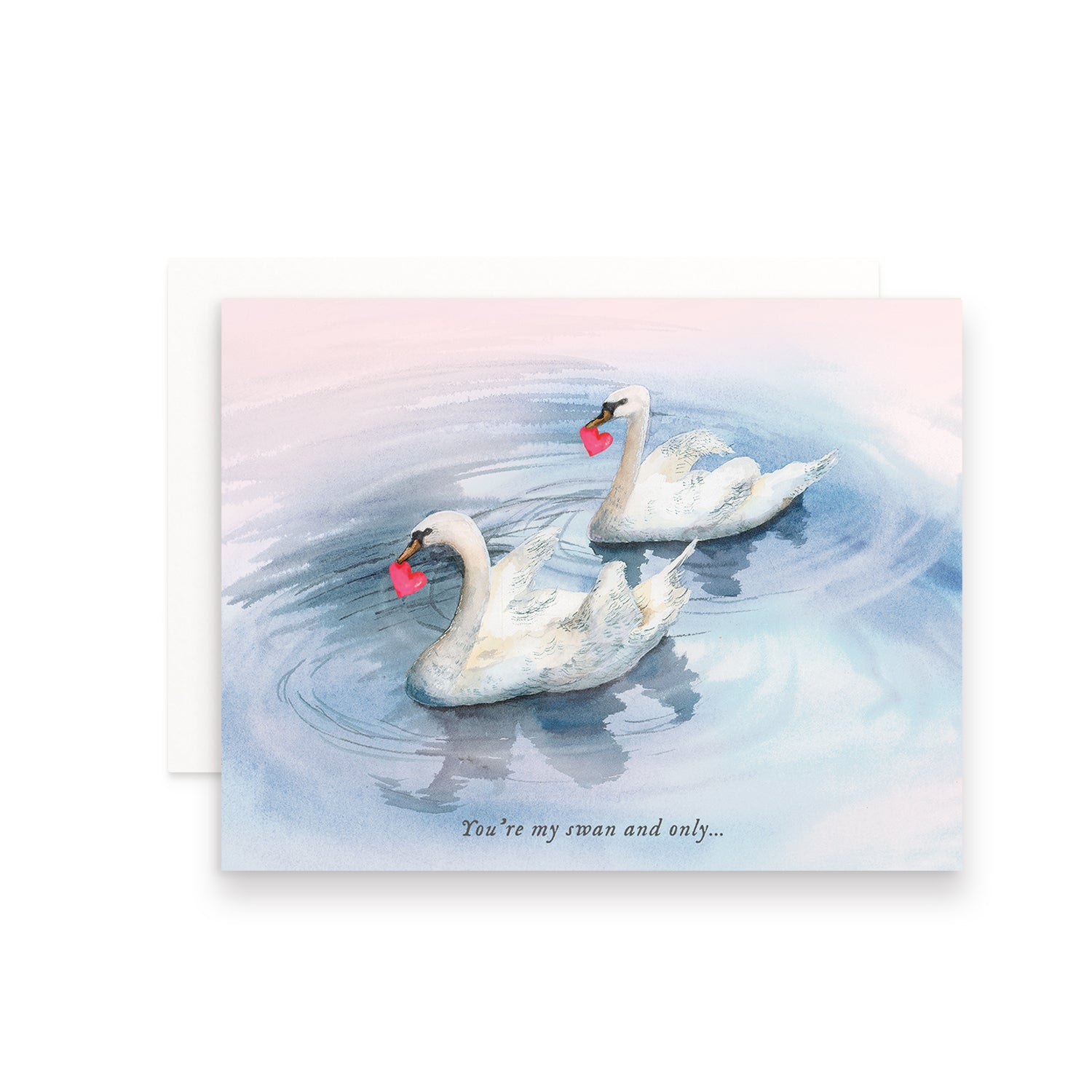 You're My Swan and Only Valentine's Day Greeting Card