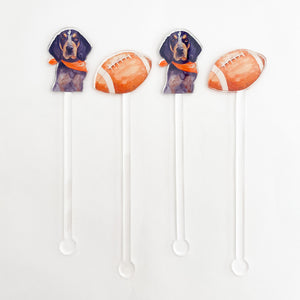 It's Football Time in Tennessee Acrylic Stir Sticks