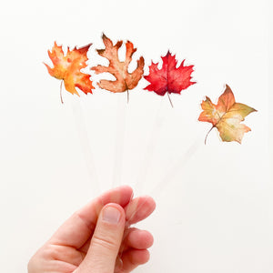 Fall Leaves Acrylic Stir Sticks