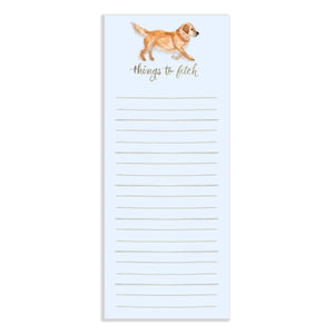 Things to Fetch Watercolor Notepad