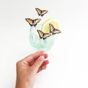 Swallowtail Butterfly Acrylic Stir Sticks