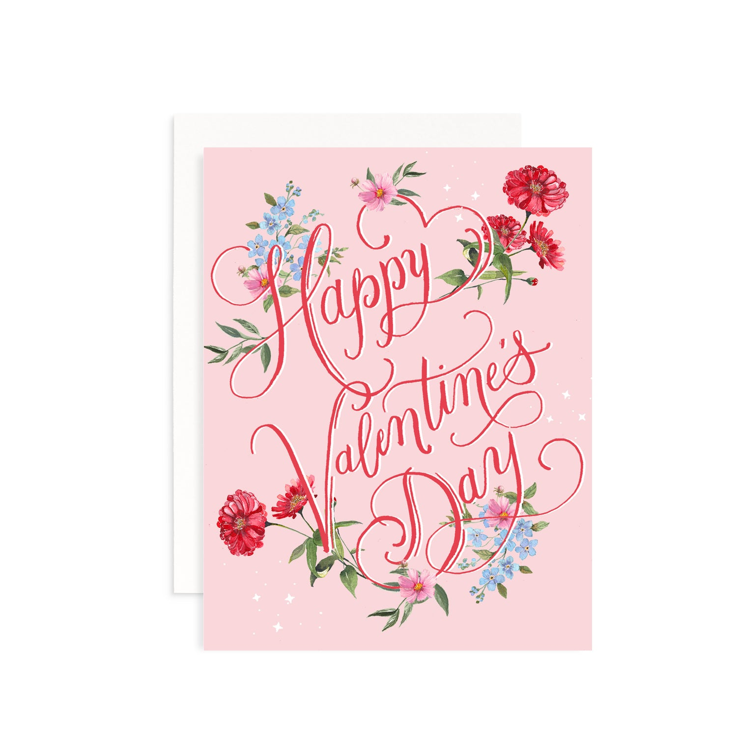 Valentine's Day Floral Greeting Card