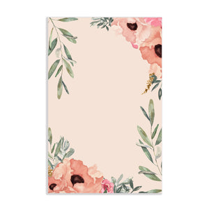 Warm Watercolor Floral Notepad