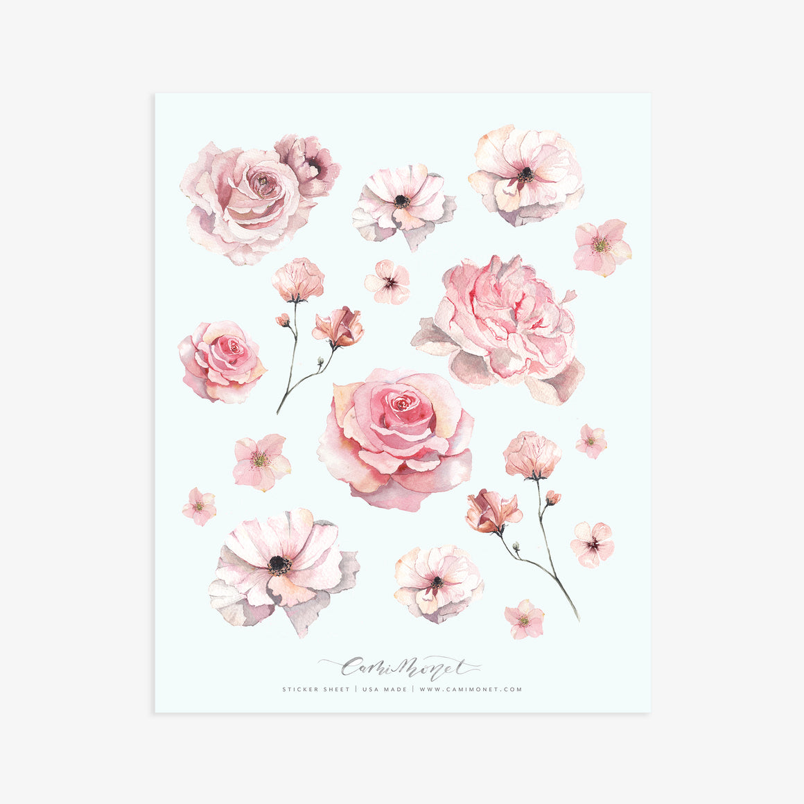 Blush Bits and Blooms Sticker Sheet