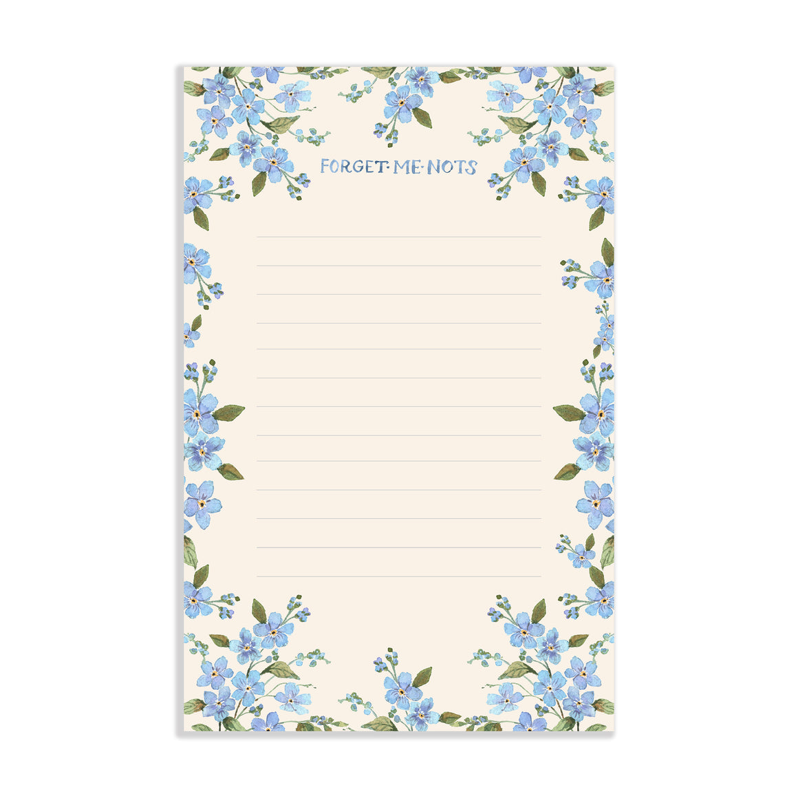 Forget Me Nots Watercolor Notepad