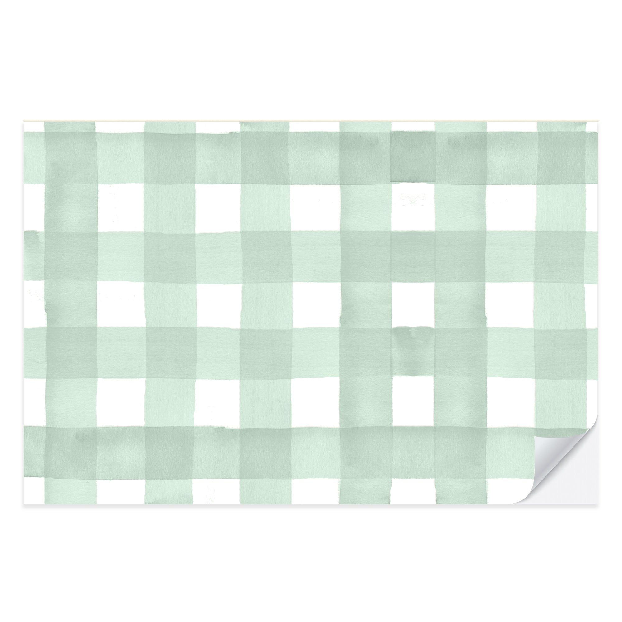 Green Gingham Placemat Pad
