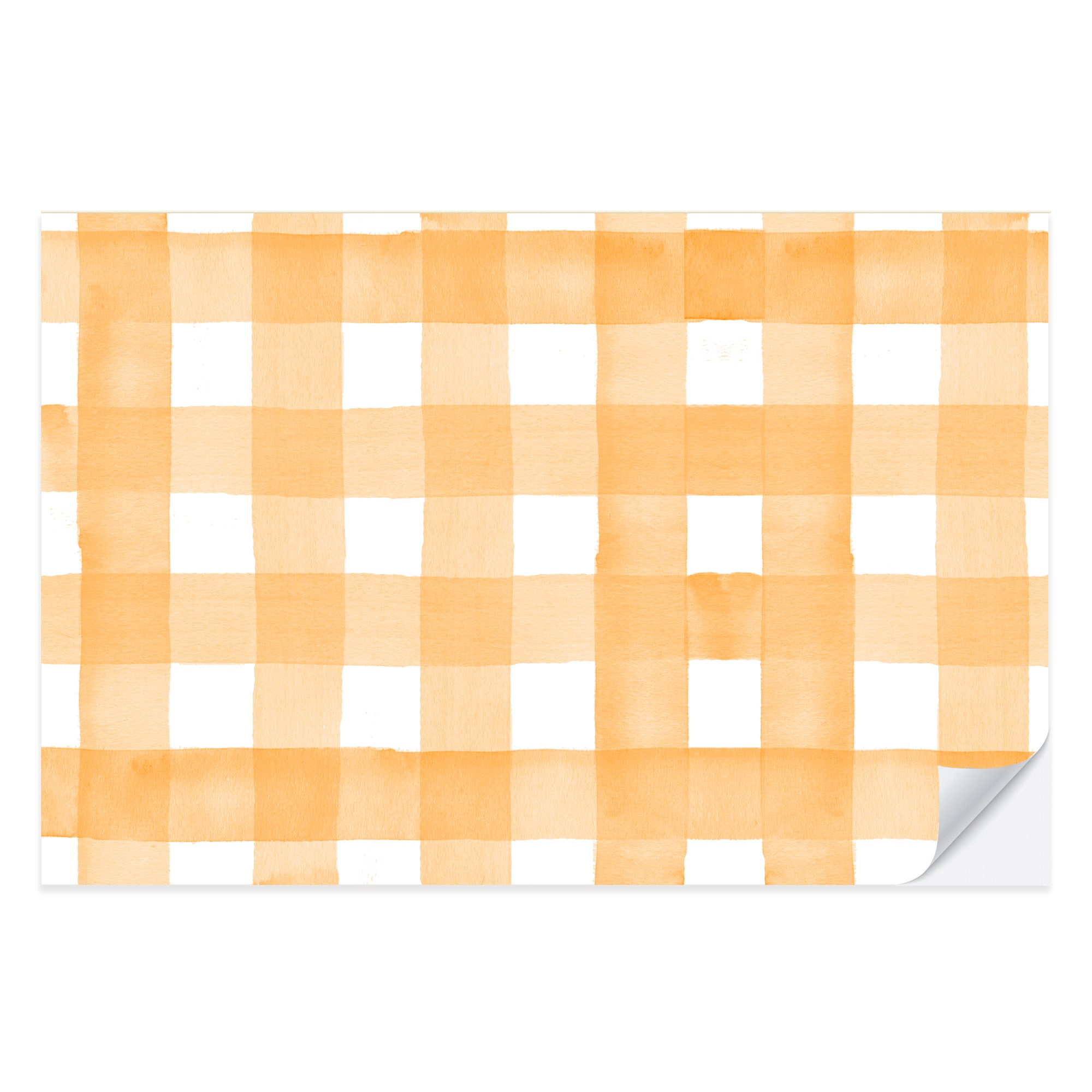 Orange Gingham Placemat Pad