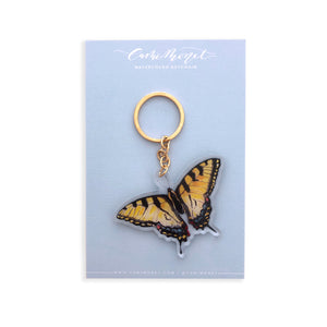 Tiger Swallowtail Butterfly Acrylic Keychain