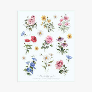 Wildflowers Sticker Sheet