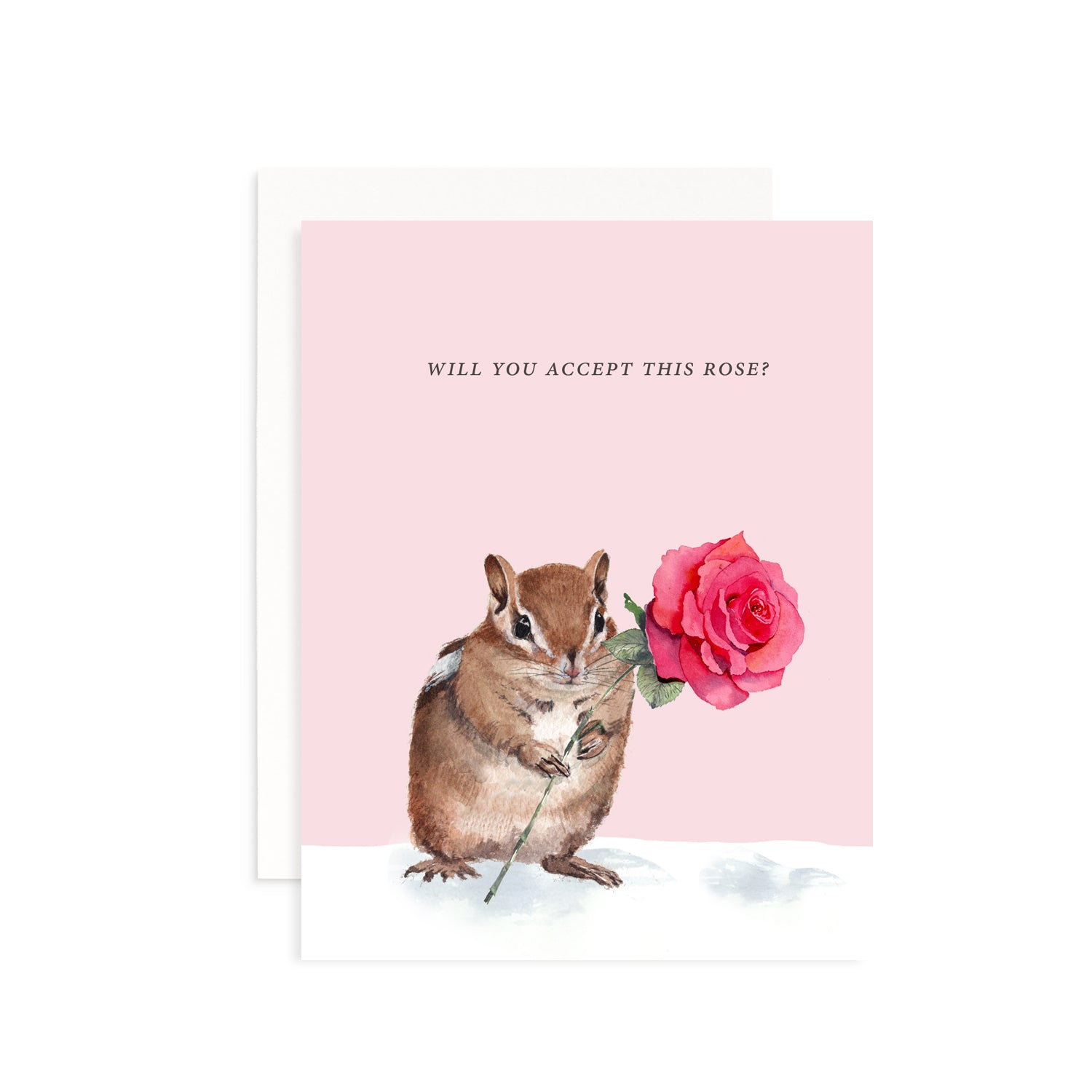 Will You Accept This Rose Valentine's Greeting Card