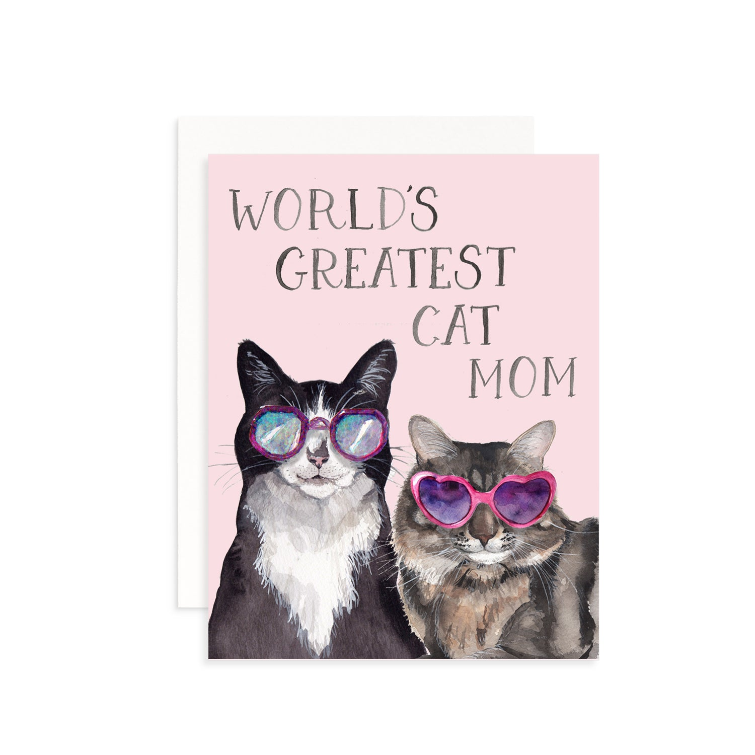 World's Greatest Cat Mom Greeting Card