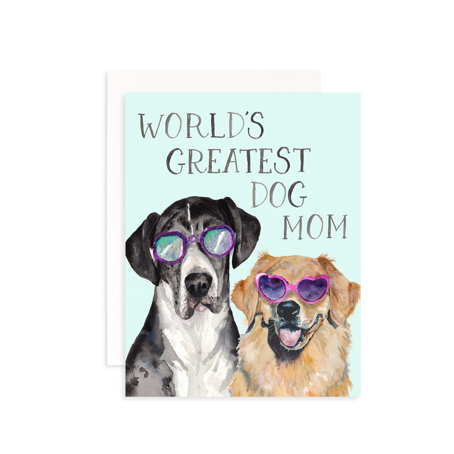 World's Greatest Dog Mom Greeting Card