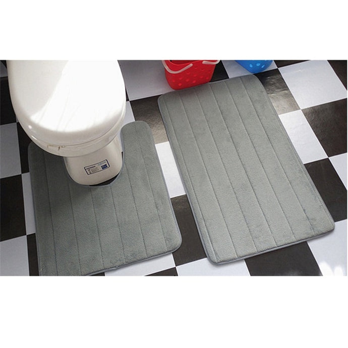 U Shape Bath Mat Set