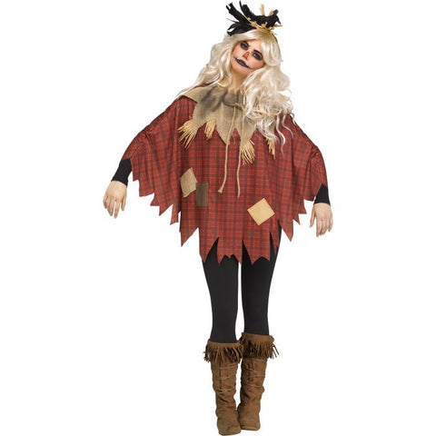 Scary Scarecrow Women's Poncho Costume