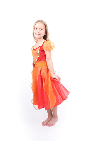 Girls Red Princess Dress