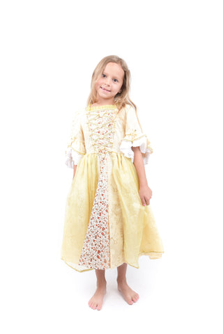 Girls Yellow Princess Dress