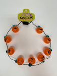 Jumbo Flashing Light Jack-o-Lantern Necklace