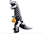 INFLATABLE T REX WITH PUMPKIN