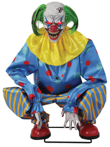 CROUCHING CLOWN BLUE ANIMATED