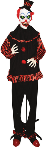 ANIMATED STANDING CLOWN 71 IN.