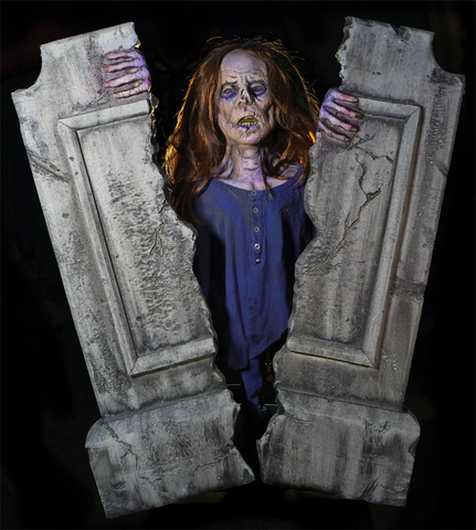 Cracking Crypt Zombie Tombstone Animatronic