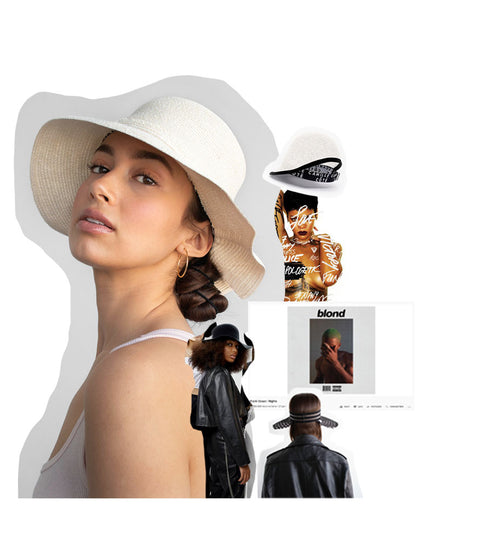 A banner showing our Camille Côté summer Cropped Hats™ and our top songs for this blog post.