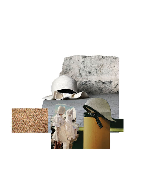 The Liberty and Claire hats from Camille Côté SS19 collection are in this collage for our Trend Pick blog post.