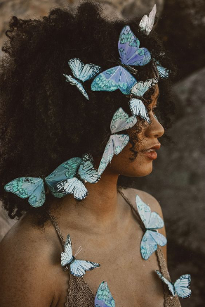 natural hair, butterflies, summer, free
