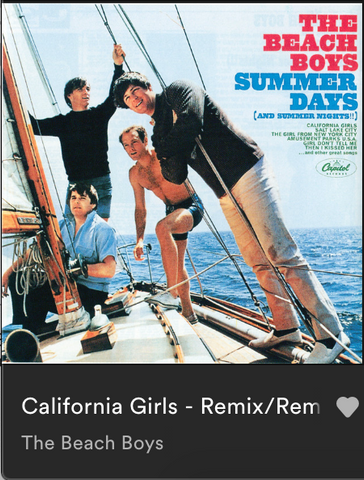 California girls, the beach boys, music, spotify, summer