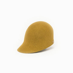 Camille Côté gold felt riding cap