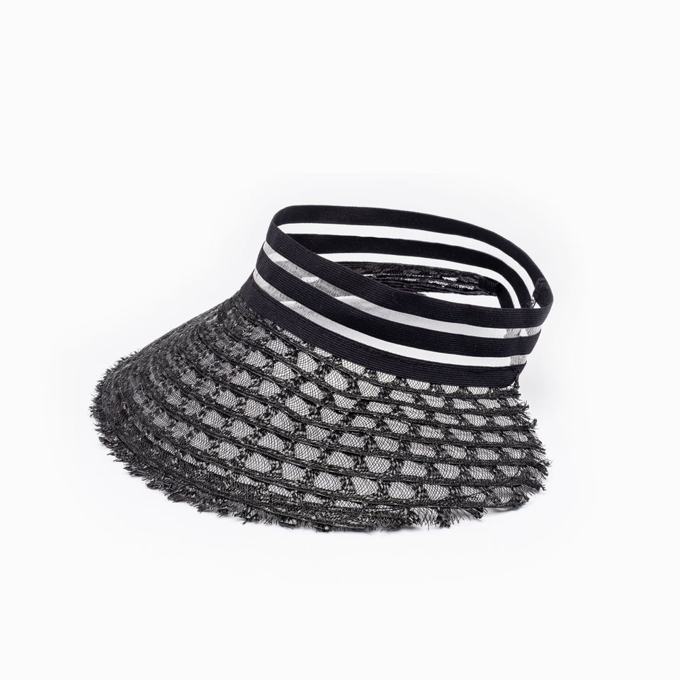 Camille Côté AIMÉE black summer hat, from SS19 collection
