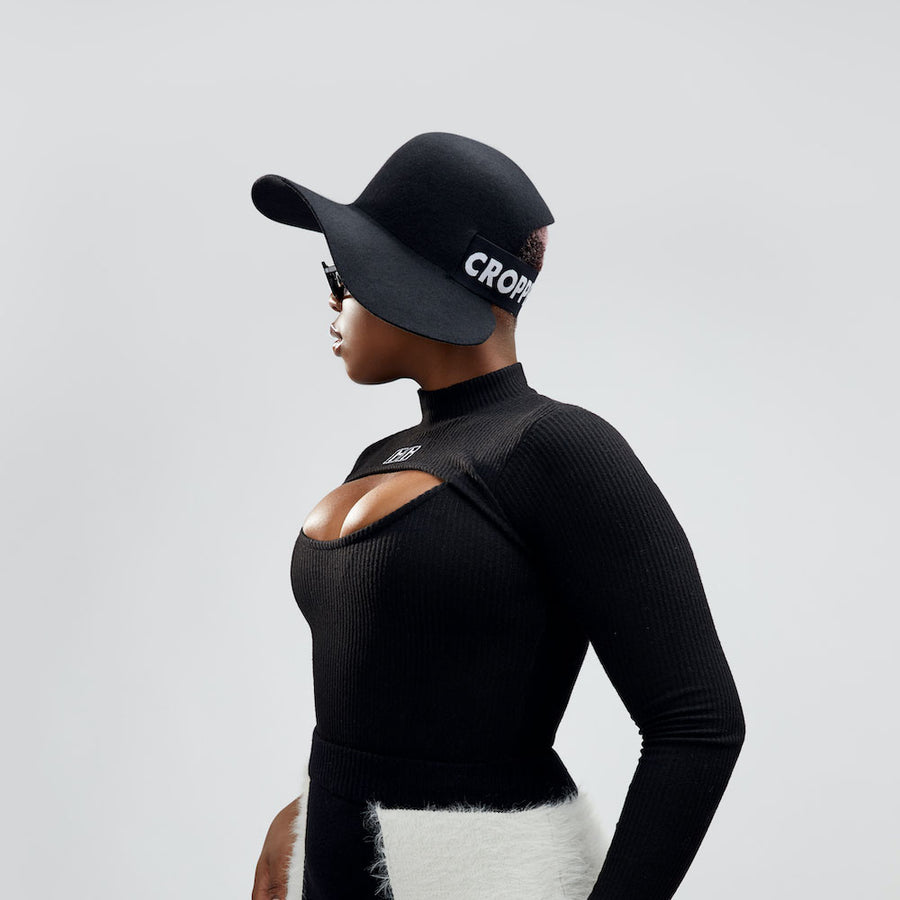 The Cropped Hat™ weared by the model for Camille Côté campain.