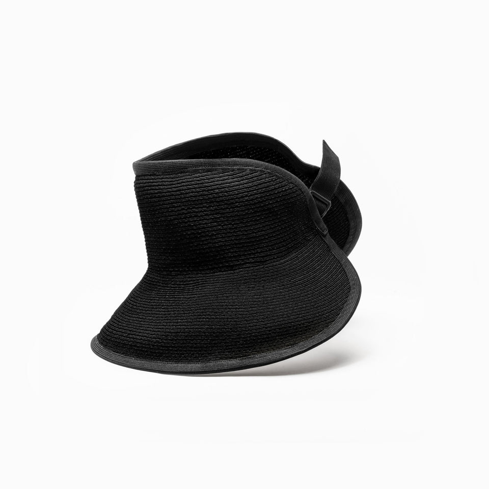 Camille Côté's BRIGGITE straw hat available in black.