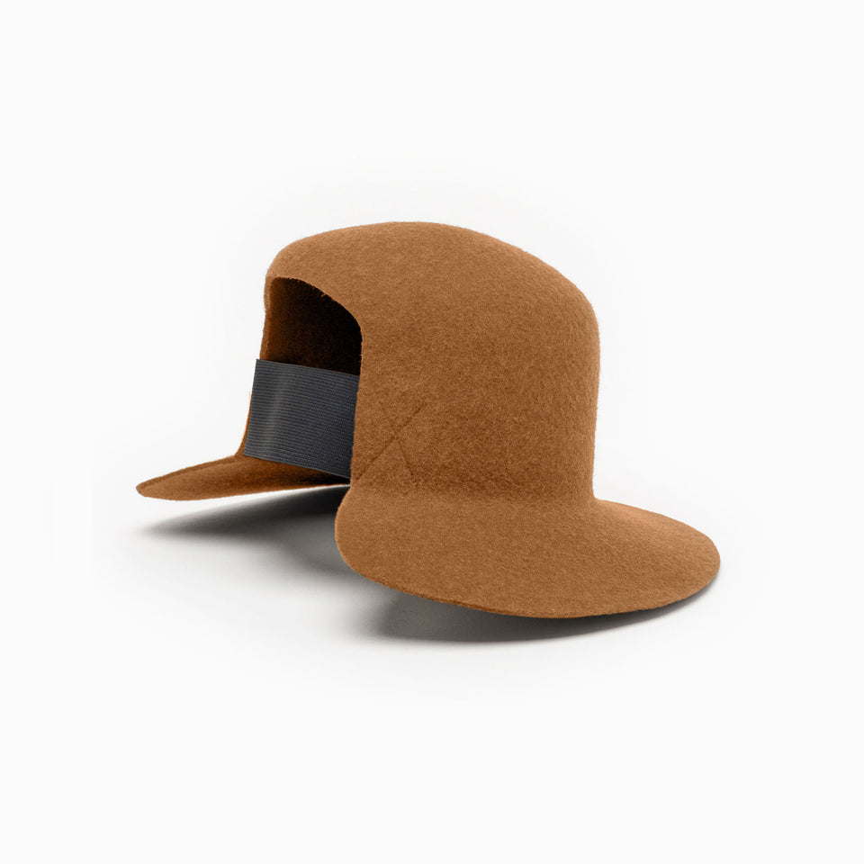 Cinnamon felt hat from fw17 Camille Côté collection.