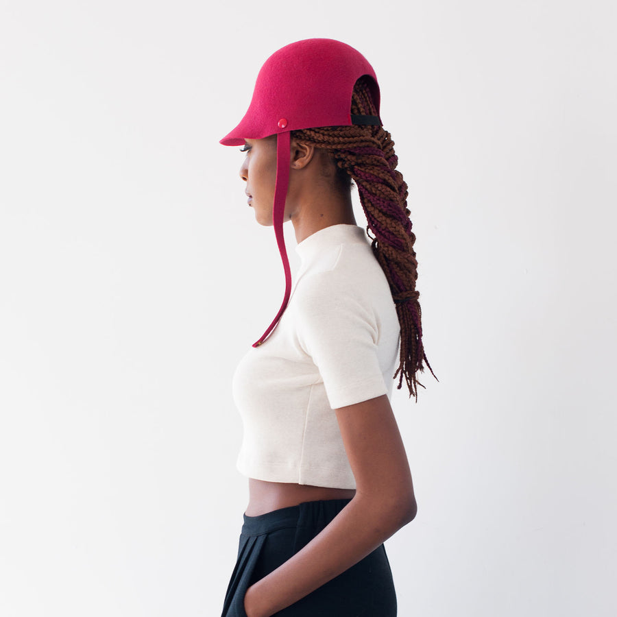 The Chief hat is designed to fit braided hair.