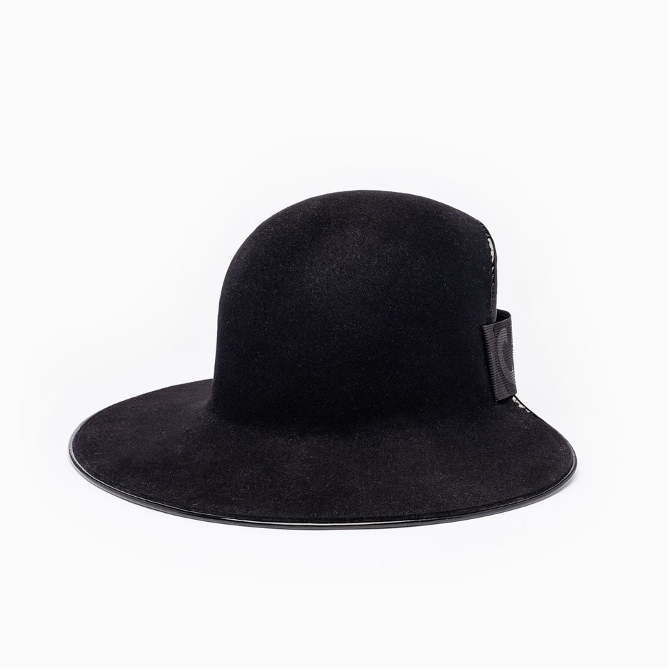 The Clever Cropped Hat™ is available in black color.