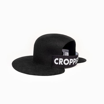 Felt black hat with the inscription