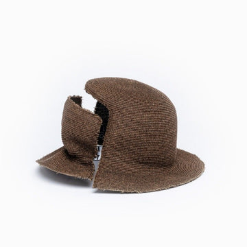 DAVIS Camille Côté brown bucket hat view from the back