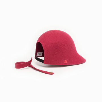 Felt hat Chief is available in rasberry color.