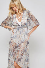 Load image into Gallery viewer, Paisley boho sheer duster