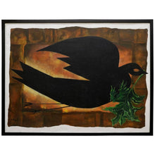 Load image into Gallery viewer, Dove Holding a Branch Oil Painting by David Segel