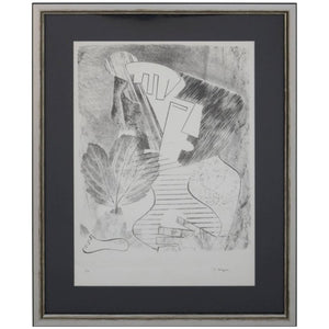 Abstract Portrait Lithograph by David Segel