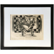 "Load image into Gallery viewer, ""Dancing Clowns"" Drawing by Lenard Kester"