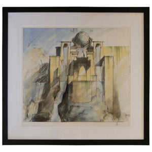 "Rare 2002 Set Design Sketch from ""Dinotopia"""