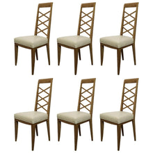 Load image into Gallery viewer, Set of Six Cerused Oak Chairs in the Manner of Jacques Adnet