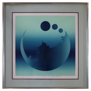 """Fusion"" Moon Lithograph Signed Mark Rowland"
