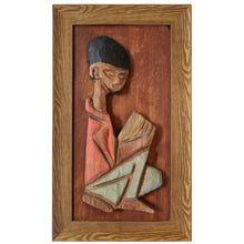 Load image into Gallery viewer, Tiki-Inspired Wall Sculpture of Little Boy by William Westenhaver