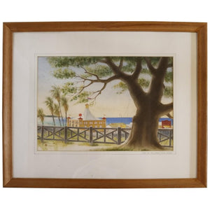 Pacific Palisades Watercolor signed Stanton