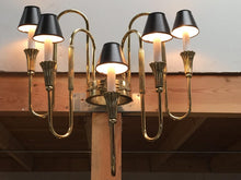 "Load image into Gallery viewer, Pair of French Bronze Candelabra Sconces in the ""Empire"" Style"