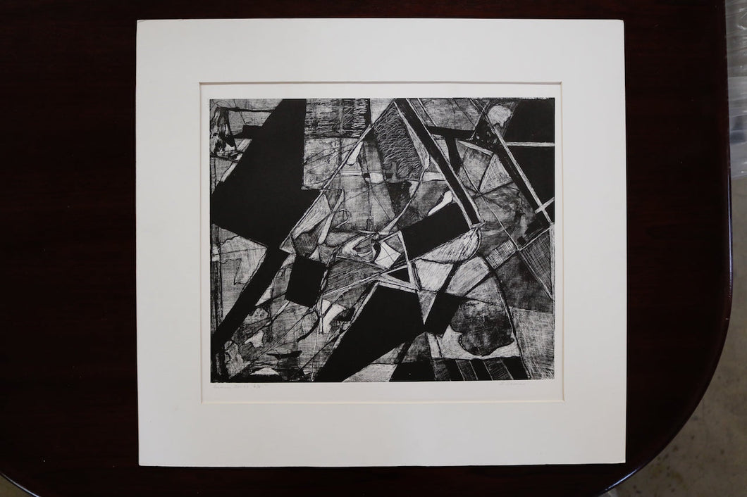 SUMMER SERIES 2/6 Abstract Lithograph Signed Louise Siekman